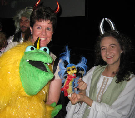 After the show I got a photo with Heather and a puppet of the tiny blue worm from the Labyrinth!