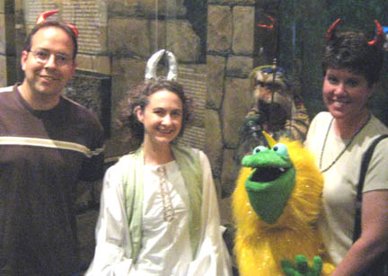 Steve, Heather, Halbag and me,with Sir Didymus in the background