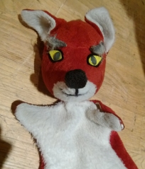 A very nice Tichenor fox puppet, still in use today. I use this same pattern for my own puppets.