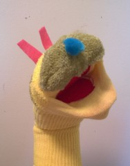 Caterpillar Sock Puppet2