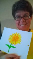 Daisy painted by senior art therapy student