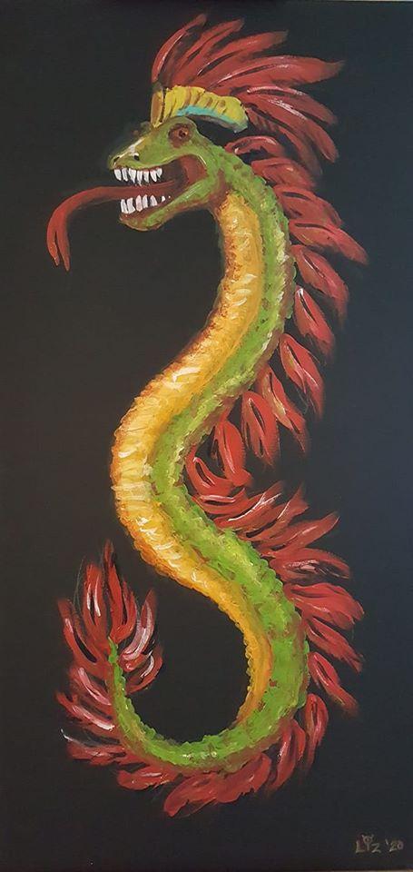 Quetz in acrylic 12 x 24